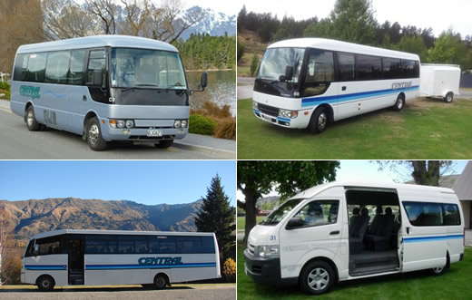 Central Motorways transport fleet for your Wanaka Wedding