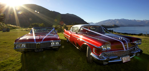 Chauffeured Cadillac Wedding transport in Wanaka